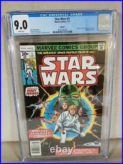 1977 MARVEL Comics STAR WARS #1 Reprint News Stand A New Hope Part 1 CGC 9.0