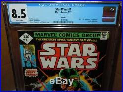 1977 Marvel Comics STAR WARS #1 CGC 8.5 No UPC 35 cent Apparent 2nd print