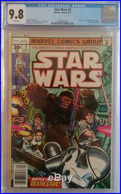 1977 Marvel Star Wars #3 CGC 9.8 WHITE PAGES PRISTINE SLAB