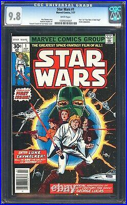 1977 STAR WARS 1 CGC 9.8 WHITE PAGES! Part 1 of 6 movie issue adaptation