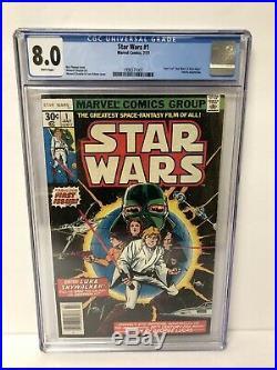 1977 Star Wars #1 Marvel Comics CGC 8.0