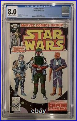 (1980) STAR WARS #42 1st Appearance BOBA FETT! CGC 8.0 OWithWP! RARE