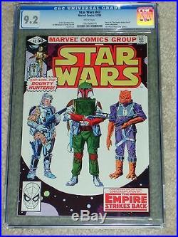 1980 STAR WARS #42 CGC 9.2 1st BOBA FETT COVER PART 4 ESB MOVIE ADAPTATION COMIC