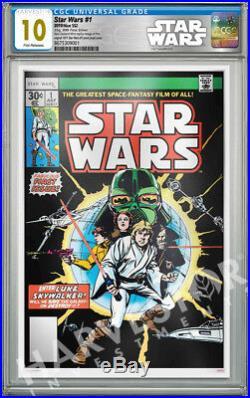 2019 Star Wars Comics Star Wars #1 Premium Silver Foil Cgc 10 Gem Mint Fr