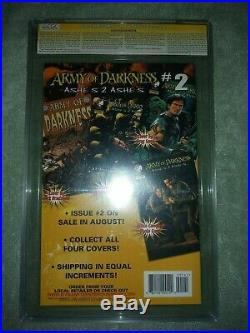 9.2 CGC SS Army of Darkness Ashes to Ashes 1 signed Bruce Campbell DDP photo