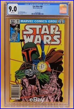 CGC 9.0 Marvel STAR WARS #68 White Pages David Michelinie 1983 BOBA FETT Cover