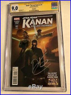 CGC 9.0 SS Kanan The Last Padawan #2 Variant signed by Dave Filoni not 9.8