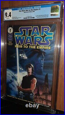 CGC 9.4 Star Wars Heir to the Empire # 1. First Appearance Admiral Thrawn. 1995