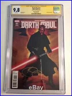 CGC 9.8 SS Darth Maul #1 Movie Photo Variant signed by Ray Park Star Wars
