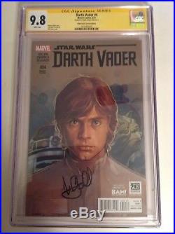 CGC 9.8 SS Darth Vader #4 Star Wars Variant Cover signed by Mark Hamill