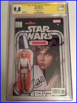 CGC 9.8 SS Star Wars #1 Action Figure Variant Cover signed by Mark Hamill