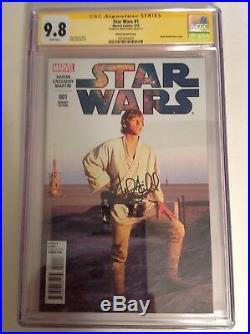 CGC 9.8 SS Star Wars #1 Movie Photo Variant signed by Mark Hamill