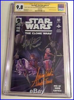 CGC 9.8 SS Star Wars Clone Wars #1 Variant signed by Eckstein & Lanter Ahsoka