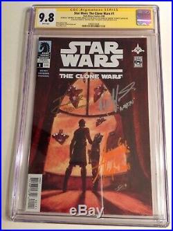 CGC 9.8 SS Star Wars Clone Wars #1 signed by Eckstein, Taylor & Lanter Ahsoka
