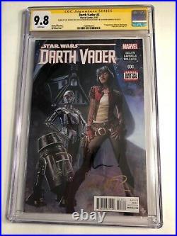 CGC 9.8 SS Star Wars Darth Vader #3 signed by David, Larroca & Gillen 1st Aphra