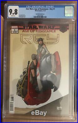 CGC 9.8 Star Wars Age of Resistance Rey #1 Joe Quesada Variant 150