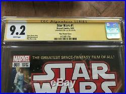 CGC SS 9.2 Signed Stan Lee Star Wars #1 2015 Marvel Comic Gem