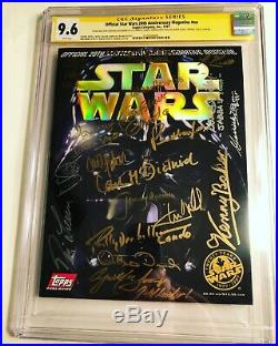 CGC SS 9.6 Official Star Wars 20th Anniversary signed Hamill, Fisher, Baker +16