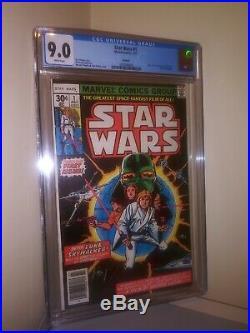 CGC STAR WARS #1 9.0 Reprint Glossy Howard Chaykin First Issue Comic Book 1977
