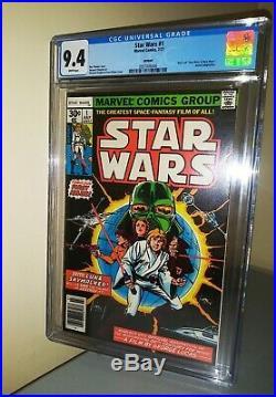 CGC Star Wars #1 9.4 Comic Book High Grade Landmark First Issue Howard Chaykin
