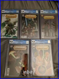 Cgc 9.8 Set Of 5 Star Wars High Republic #1 125 Sway110cover A And Bhans