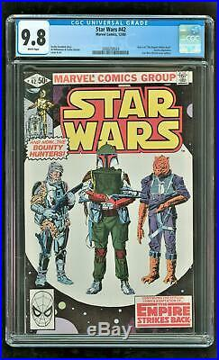 Cgc 9.8 Star Wars #42 Marvel Comics 1980 1st Appearance Of Boba Fett Mandalorian