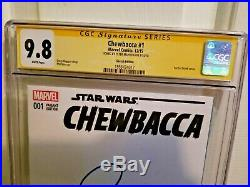 Chewbacca #1 CGC SS 9.8 Signed by Peter Mayhew blank variant Star Wars R. I. P