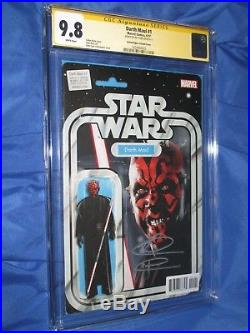 DARTH MAUL #1 CGC 9.8 SS Signed Ray Park Action Figure Variant/Star Wars/Marvel