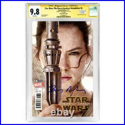 Daisy Ridley Autographed Star Wars The Force Awakens Adaptation #6 CGC SS 9.8