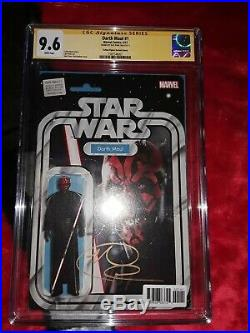 Darth Maul #1 Action Figure Variant signed Ray Park 9.6 CGC SS Star Wars