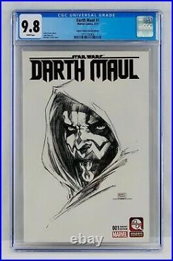 Darth Maul #1 CGC 9.8 Aspen Comics Sketch Edition Turner Variant Star Wars NM/MT