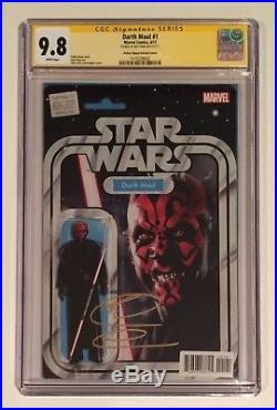 Darth Maul #1 Cgc Ss 9.8 Signed Ray Park Action Figure Variant