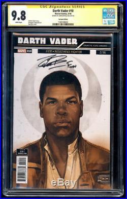 Darth Vader #10 Finn Variant SS CGC 9.8 John Boyega Signature Series Star Wars