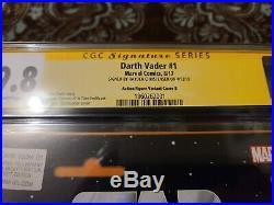 Darth Vader 1 Action Figure Variant Cgc 9.8 Ss Signed By Hayden Christensen