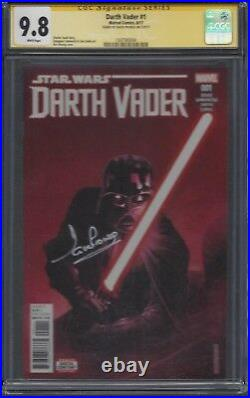 Darth Vader #1 CGC 9.8 SS Signed by David Prowse (The actor who plays Vader)
