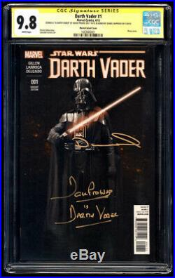 Darth Vader 1 Movie/Photo SS CGC 9.8 Prowse & Naprous Signature Series Star Wars