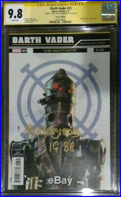 Darth Vader #23 Galactic Icon Variant CGC 9.8 SS Signed by Bill Hargreaves IG-88