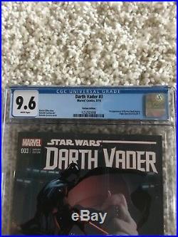 Darth Vader 3 125 Larroca Variant CGC 9.6 1st Appearance Dr. Aphra Star Wars