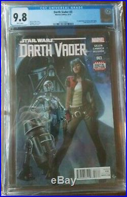 Darth Vader 3 CGC 9.8 NM/MINT 1st Doctor Aphra, 0-0-0, BT-1 1st Print Star Wars
