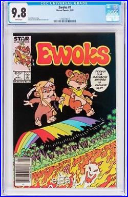 Ewoks #1 Marvel Comic 1985 CGC 9.8 NM/MT White Pages First Issue Star Wars