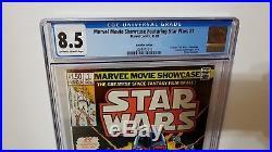 Highest Graded CGC 8.5 MOVIE SHOWCASE STAR WARS #1 1982 Canadian 1.50 VARIANT