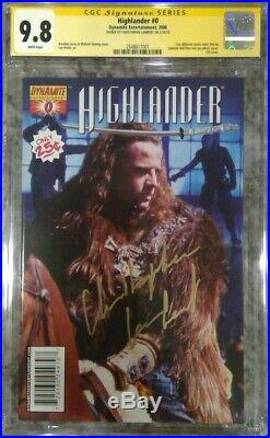 Highlander #0 photo cover CGC 9.8 SS Signed by Christopher Lambert