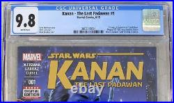 KANAN THE LAST PADAWAN #1 STAR WARS (2015) CGC 9.8 1st app GHOST CREW