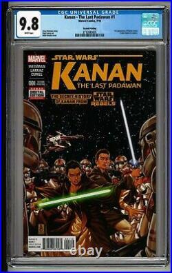 Kanan The Last Padawan #1 CGC 9.8 White 2nd Print! RARE! ONLY 10 9.8! Sabine