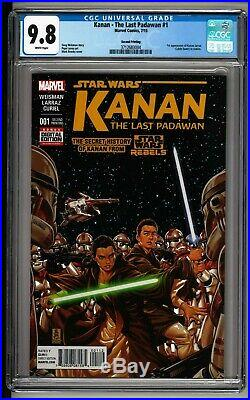 Kanan The Last Padawan #1 CGC 9.8 White 2nd Print! RARE! ONLY 5 9.8! Sabine
