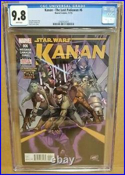 Kanan The Last Padawan #6 Cgc 9.8 Full Sabine Wren & Rebels Cover & Appearance