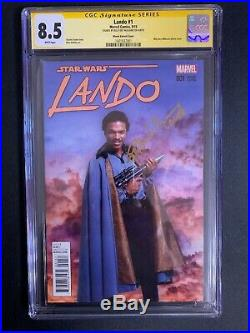 Lando #1 Variant Cover CGC 8.5 SS Billy Dee Williams Lando! Marvel Comics