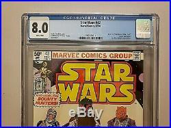 MAKE AN OFFER, Star Wars #42 CGC 8.0 1st Madalorian Boba Fett Marvel 1980 Disney