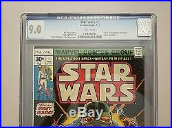 MAKE ME AN OFFER Star Wars #1 CGC 9.0 many 1st appearances Marvel 1977 miked3660