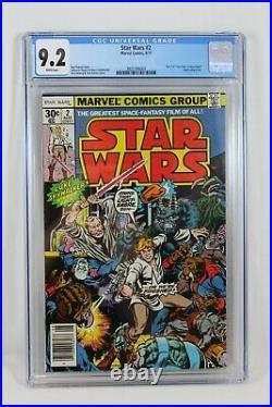 Marvel Comics 1977 Star Wars #2 CGC 9.2 1st Appearance Han Solo & Chewbacca